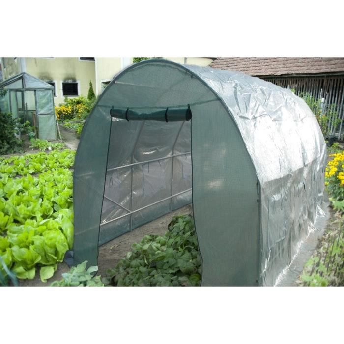 Serre de jardin tunnel structure en acier avec couverture en poly thyl ne ver - Vente de serre tunnel ...