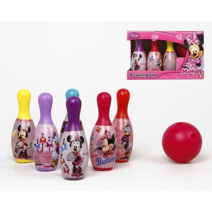 Jeu de quilles bowling minnie daisy pour enfant achat for Decoration quille de bowling