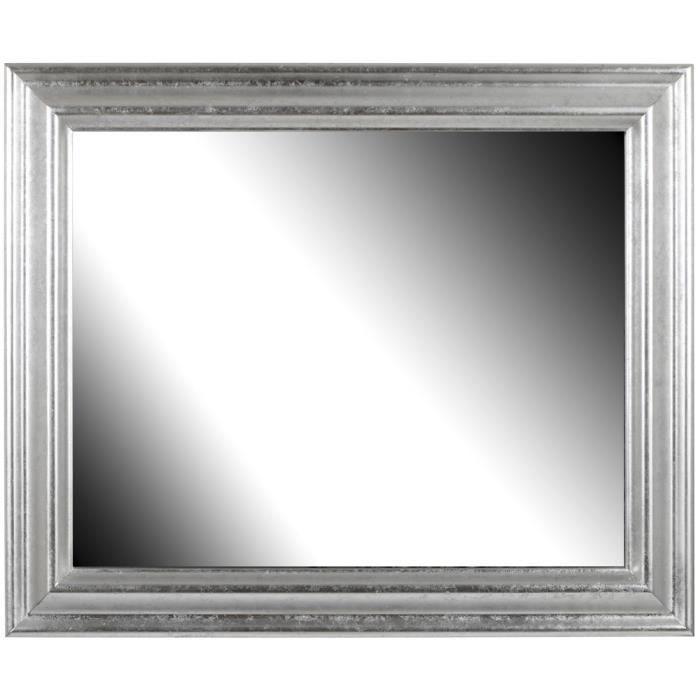 Brio miroir vend me argent 50x70 cm achat vente miroir for Miroir 50 x 100