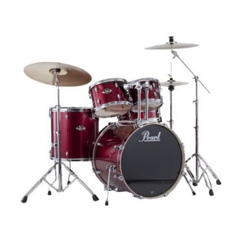 batterie pearl export fusion 20 39 39 red wine avec cymbales. Black Bedroom Furniture Sets. Home Design Ideas