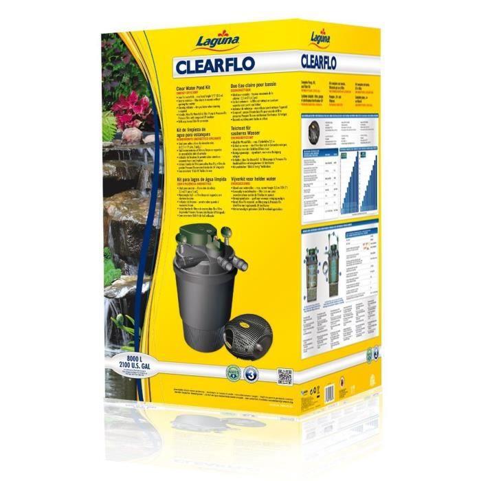 clearflo 8000 syst 232 me de filtration pour bassin achat vente bassin d ext 233 rieur syst 232 me filtr