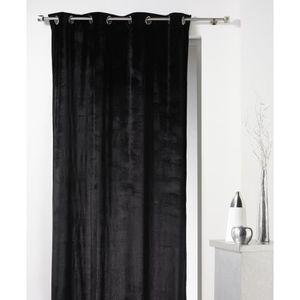 rideau velours noir achat vente rideau velours noir pas cher cdiscount. Black Bedroom Furniture Sets. Home Design Ideas