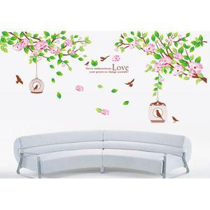 Papier peint avec oiseaux achat vente papier peint for Decoration murale oiseau 3d