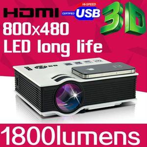 Vidéoprojecteur Mini Pico Projecteur 3D Portable HDMI Home Theater