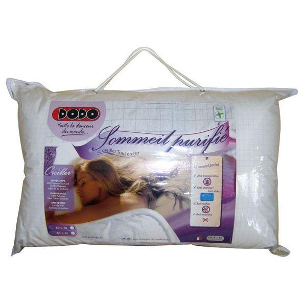 Dodo oreiller 65x65 cm 4 en 1 achat vente oreiller cdiscount - Oreiller anti transpiration dodo ...