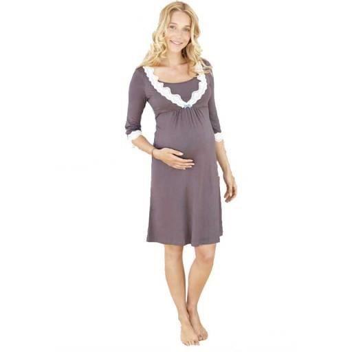 chemise de nuit grossesse et allaitement dentelle vous serez aussi belle que bien en attendant. Black Bedroom Furniture Sets. Home Design Ideas