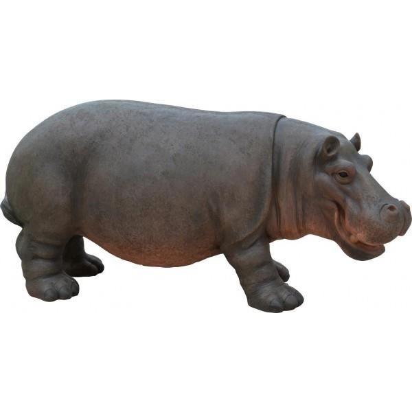 Hippopotame 80 cm en r sine 200126 achat vente for Statue en resine pour jardin