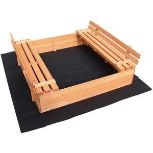 bac a sable bois couvercle achat vente jeux et jouets. Black Bedroom Furniture Sets. Home Design Ideas