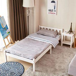 lit bois 90 achat vente lit bois 90 pas cher cdiscount. Black Bedroom Furniture Sets. Home Design Ideas