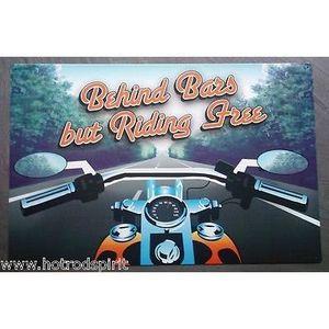 Deco plaques fer ou plaque emaillee  Plaque-publicitaire-moto-flammes-riding-free-bi