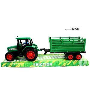 voiture camion grand tracteur remorque a friction 32 x 9 x 65 cm