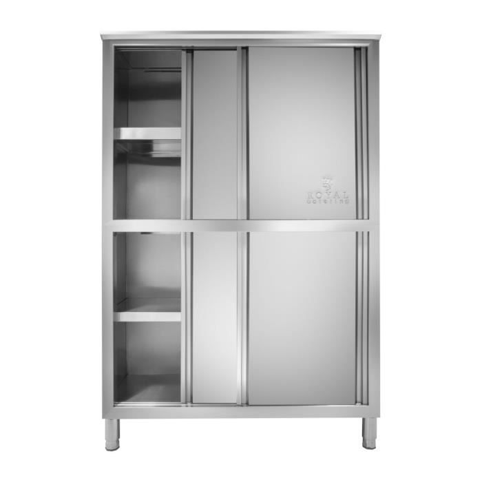 Armoire cuisine professionnelle inox 4 tages 50 x 118 x for Armoire inox cuisine