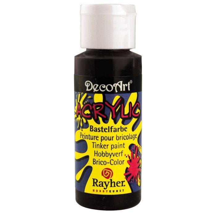 Peinture noir acrylique 59 ml deco art achat vente peinture acrylique peinture - Peinture pailletee avis ...
