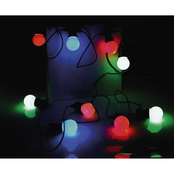 guirlande electrique ampoules multicolores achat vente guirlande multicolores plastique. Black Bedroom Furniture Sets. Home Design Ideas