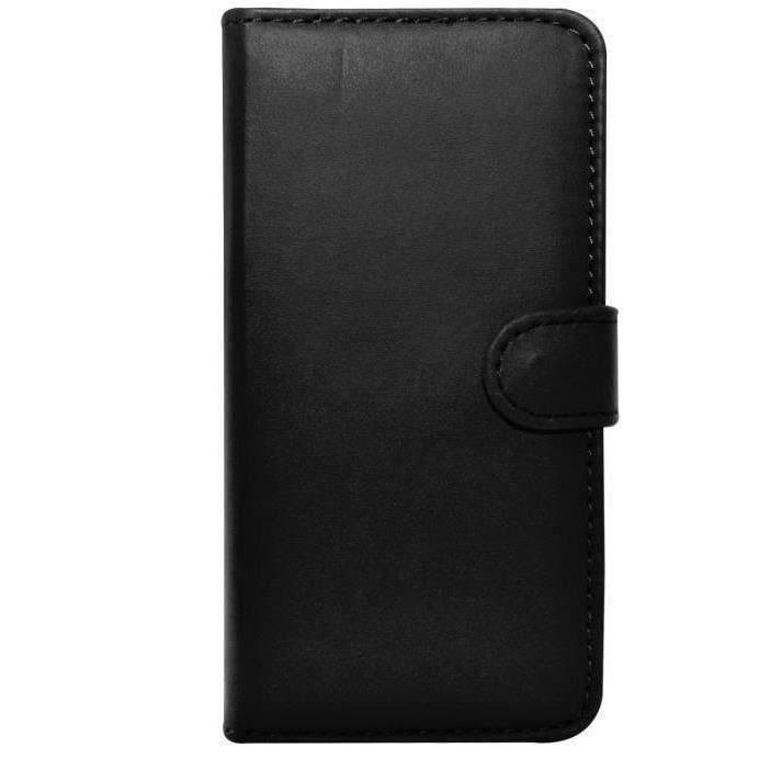 Housse etui coque portefeuille iphone 6 noir achat for Housse portefeuille iphone 6
