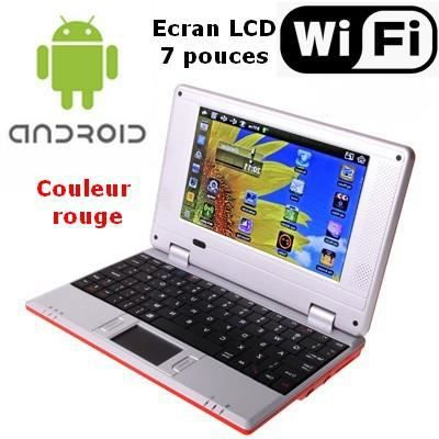 netbook rouge android wifi usb sd cran 7 pouces prix. Black Bedroom Furniture Sets. Home Design Ideas