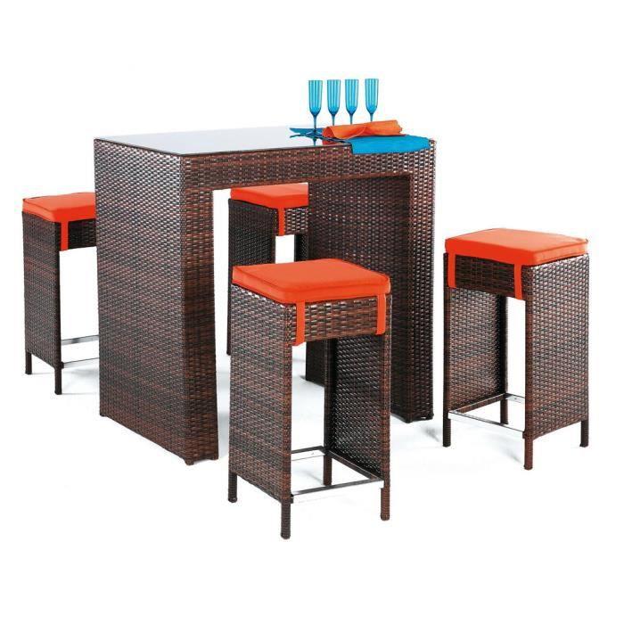 Ensemble table bar delphin et 4 tabourets couss achat - Ensemble table bar ...