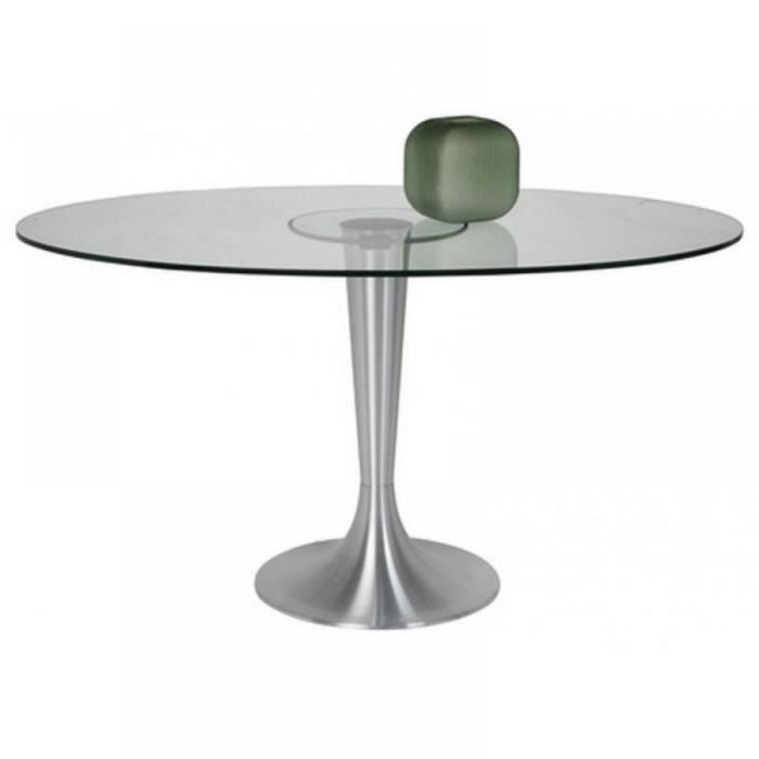 Table ovale possibilita pied m tal bross achat vente - Table pied metal ...