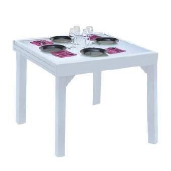Table de jardin modulo 4 8 places blanche achat vente table de jardin table de jardin Table de jardin aluminium blanche