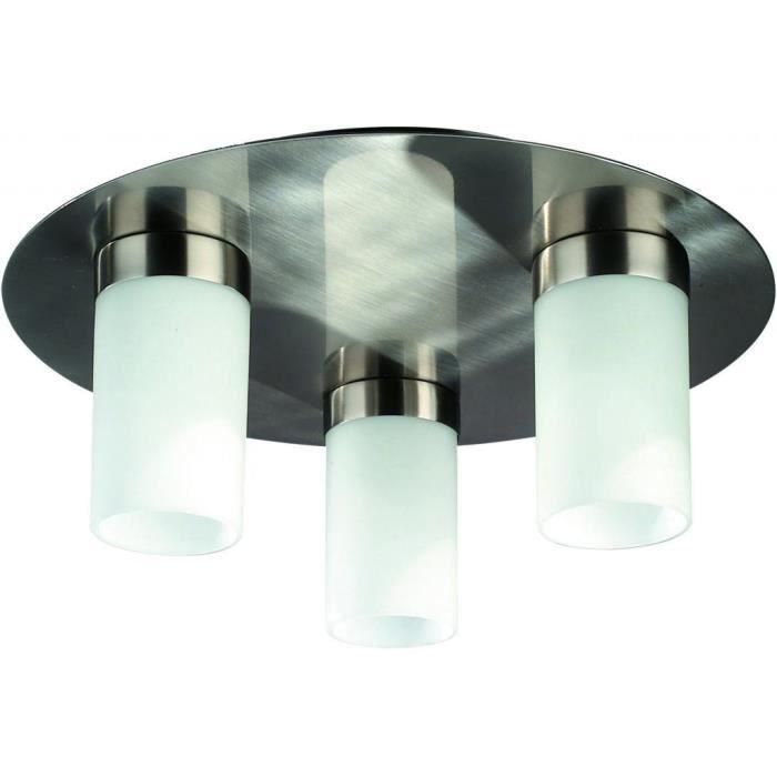 luminaire philips massive plafonnier aqua 3 ampoules ma 320151710couleur grispoids 1 70. Black Bedroom Furniture Sets. Home Design Ideas