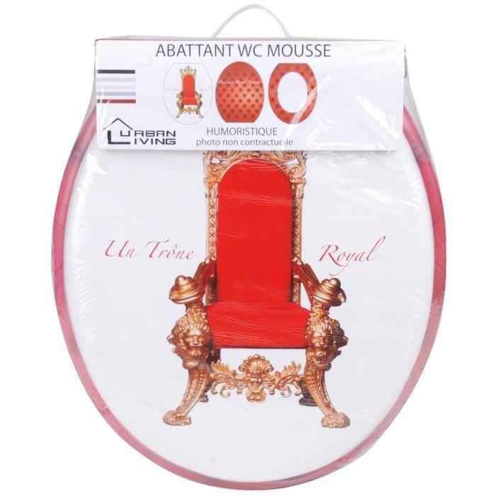 abattant de toilettes lunette wc mon trone royal achat vente abattant wc cdiscount. Black Bedroom Furniture Sets. Home Design Ideas