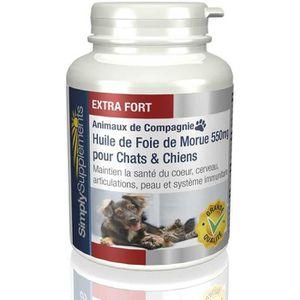COMPLÉMENT ALIMENTAIRE Huile de Foie de Morue 550mg pour chiens et chats