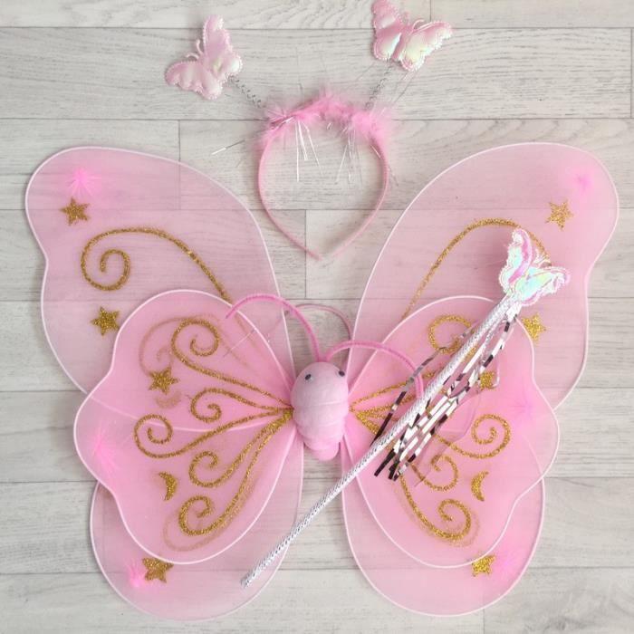 F e papillon toile mod le rose clair achat vente - Modele papillon ...