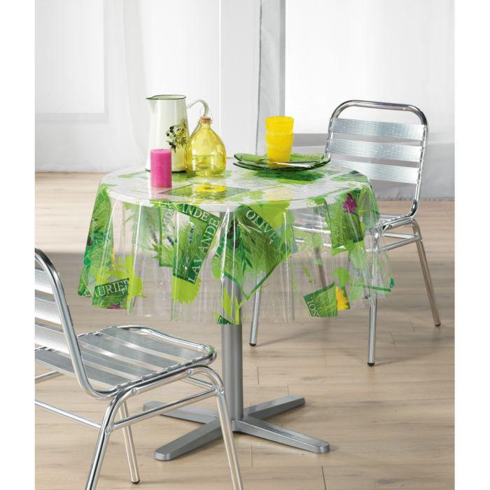 Nappe pvc lavandou transparent ronde 140 cm achat for Table ronde 140 cm