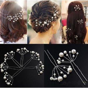 barrette chouchou pingle chignons perles blanches - Epingle Cheveux Mariage