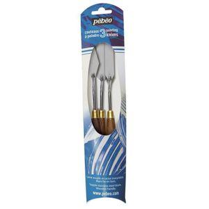 PINCEAU - SET PEBEO Set de 3 couteaux à peindre