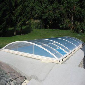 Abri de piscine relevable sur mesure achat vente abris for Abri piscine relevable