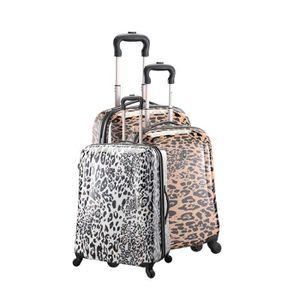 SET DE VALISES Set de 3 valises chariot 4 roues imprimé léopard
