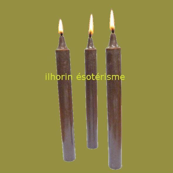 1 bougie marron teint e dans la masse magn tis e pour. Black Bedroom Furniture Sets. Home Design Ideas