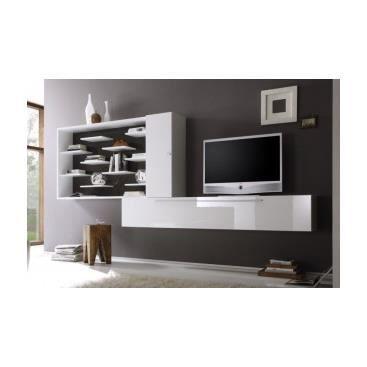 Meuble tv hifi design banc de salon cuisine int rieur pas - Meuble mural tv pas cher ...