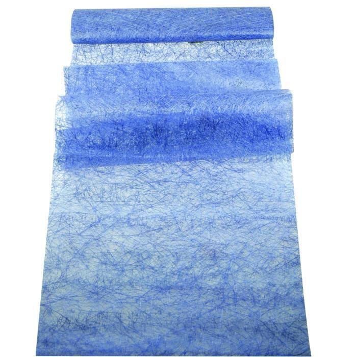 chemin de table abaca bleu achat vente chemin et set de table cdiscount. Black Bedroom Furniture Sets. Home Design Ideas