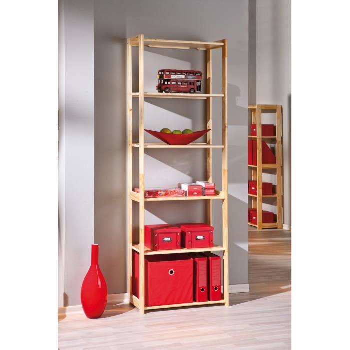 etag re 6 niveaux en pin gina achat vente meuble tag re etag re 6 niveaux en pin gina pin. Black Bedroom Furniture Sets. Home Design Ideas