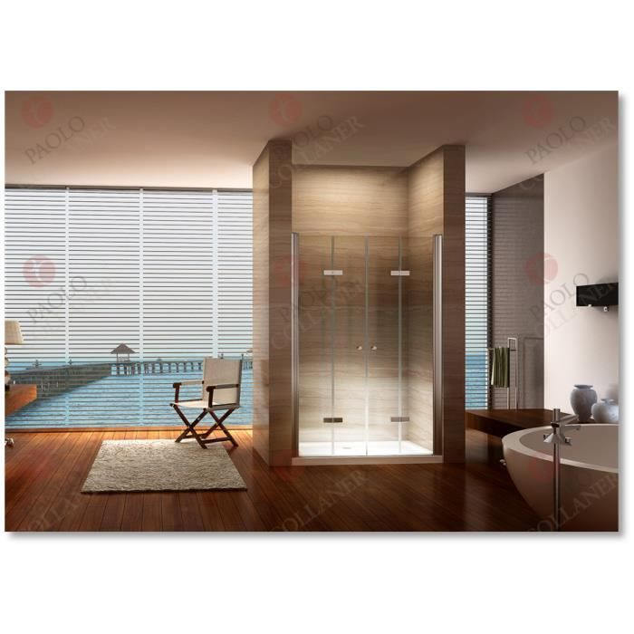 Portes de douche pliantes 105x195 largeur ajustable de - Portes de douche pliantes ...
