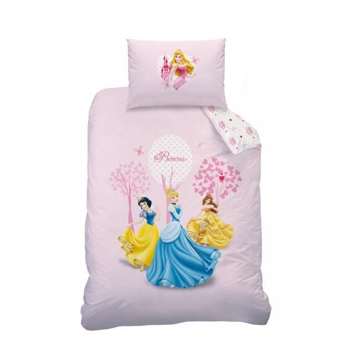 Parure de lit enfant princesses 110x140 achat vente parure de drap cdis - Cdiscount parure de lit ...