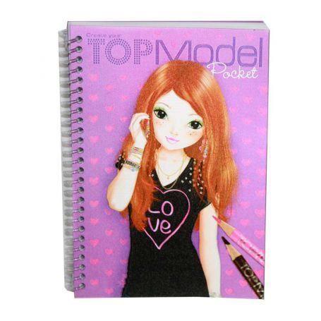Album top model pocket parme 3d achat vente livre de - Album de coloriage top model ...