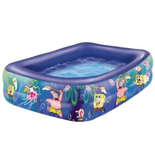 Piscine bob l 39 ponge carr e 150x150x50cm achat vente piscine piscine - Piscine gonflable cdiscount ...