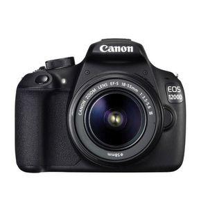 CANON EOS 1200D 18-55 + Sacoche 100EG + Carte mémoire 8GB DFIN - Appareil photo numérique Reflex avec objectif
