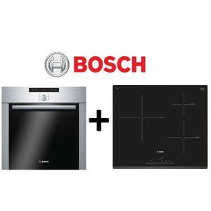 PACK cuisson BOSCH: HBA64B252F-Four pyrolyse 60L Inox+PIJ631FB1E-Table de cuisson ? Induction 3 zones- Affichage digital