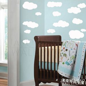 Stickers nuages blanc achat vente stickers nuages - Stickers muraux nuages blancs ...