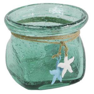 vase en verre turquoise achat vente vase en verre. Black Bedroom Furniture Sets. Home Design Ideas
