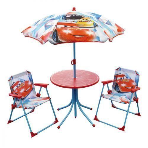 Cars set de jardin table parasol 2 chaises achat for Set table jardin