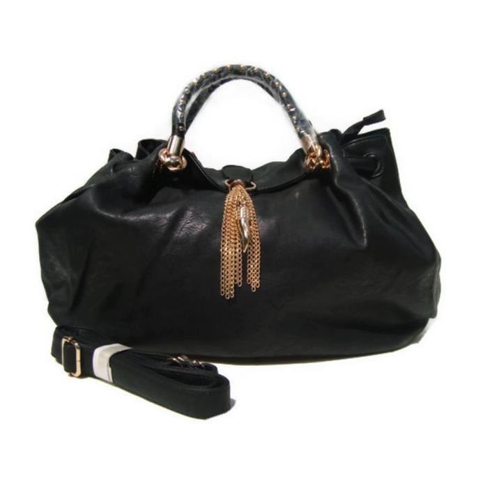 Sac a main noir fourre tout porte epaule achat vente sac a main noir fourre tout cdiscount - Porte sac a main ...