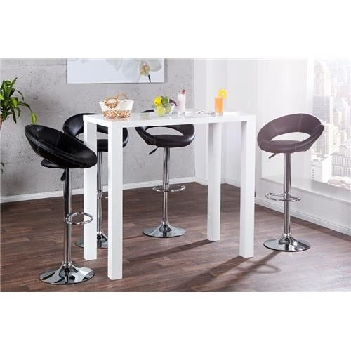 Table haute design lucento2 blanc achat vente table manger table haute - Table haute cdiscount ...