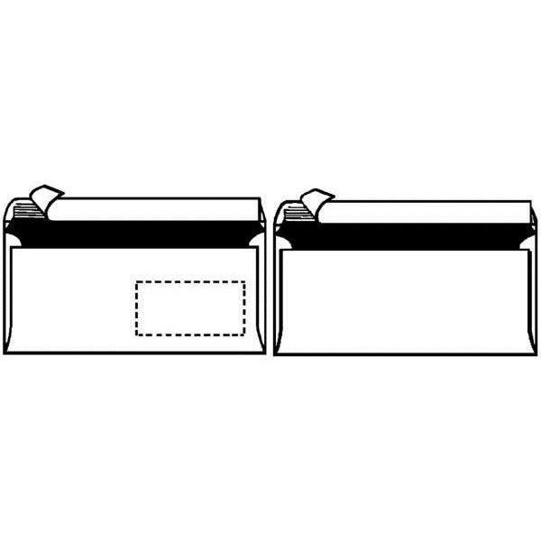 Enveloppe format long sans fen tre blanc achat for Enveloppe sans fenetre
