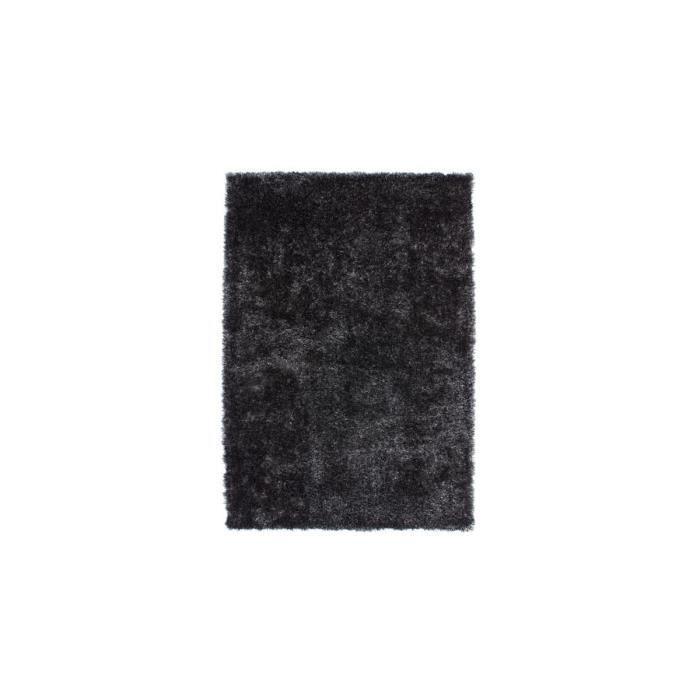 tapis doux en polyester anthracite tango par lalee 120x170cm anthracite achat vente. Black Bedroom Furniture Sets. Home Design Ideas