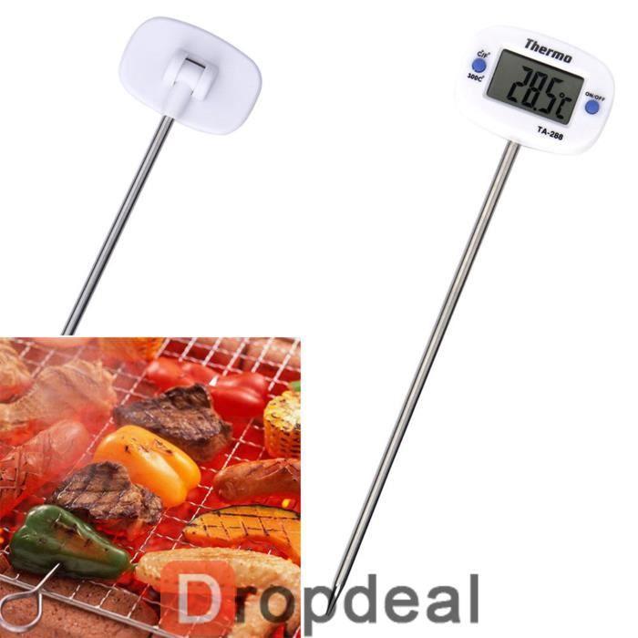 Thermom tre de cuisson num rique sonde bbq cuisine 50 - Thermometre cuisine sonde ...